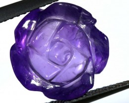 AMETHYST FLOWER CARVING  5.65 CTS LT-673