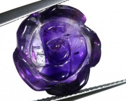 AMETHYST FLOWER CARVING  11.65 CTS LT-679