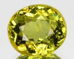 2.32 Cts Natural Lemon Green Mali Garnet Oval Faceted Gem