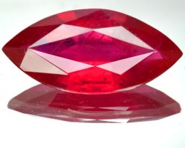 Stunning Top Quality Blood Red Ruby 8.42 Cts Marquise Cut Mozambique Gem