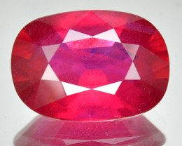 Top Quality Blood Red Ruby Cushion Cut 7.36 Cts Mozambique Gem