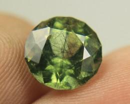 Wow 3.75 carats Cut Peridot hair-like Ludwigite inclusions From Pakistan