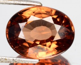 9.12 Cts Natural Imperial Brown Zircon Oval Cut Cambodia Gem