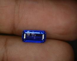 1.88 Cts Natural Kashmir Blue Kyanite Octagon Cut Gemstone