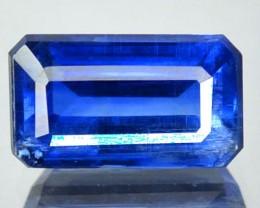 3.46 Cts Natural Kashmir Blue Kyanite Octagon Cut Nepal Gem
