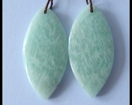 30.95Cts Natural Amazonite Earring Beads