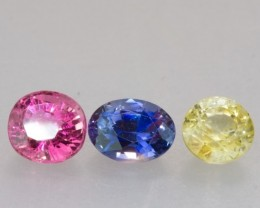 3.63ct TW Sapphire Mixed Lot