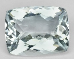 1.98 Cts Natural Blue Aquamarine Cushion Cut Brazil Gem