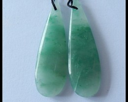 28.5Cts Natural Aventurine Earring Beads ,Healing Stone ,Wholesale B127