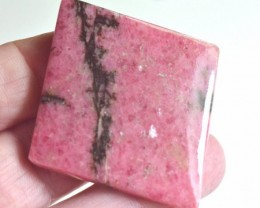 diamond square shape pink Rhodonite cabochon