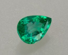 1.55ct Pear Cut Crystal Quality Zambian Emerald