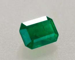 1.00ct Emerald Cut Zambian Emerald
