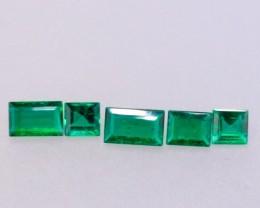 1.09ct TW Baguette Cut Zambian Emerald Parcel