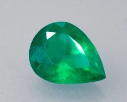 2.33ct Pear Cut Colombian (Muzo Mine) Emerald