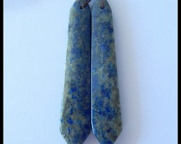 Sale 37 Ct Natural Lapis Lazuli Earring Beads ,Healing Stone ,Wholesale B10