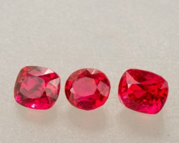 "1.21ct TW Red Mixed Cut ""Jedi"" Spinel Set"