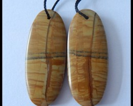 45.85 Ct Natural Owyhee Jasper Earring Beads (18091171)