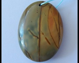82.5Cts Natural Multi Color Picasso Jasper Pendant Bead