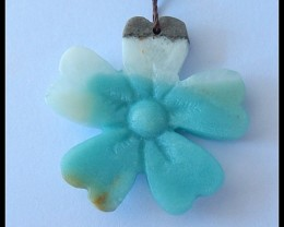 45.1Cts Natural Amazonite Four Colver Pendant Bead