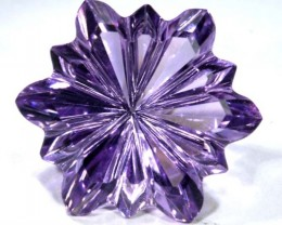 AMETHYST FLOWER CARVING 30.95 CTS LT-685