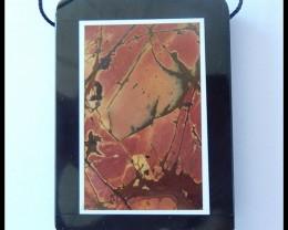 133.5Ct Beautiful Picasso Jasper,Obsidian Intarsia Pendant Bead(B1804209)
