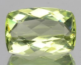 2.74 Cts Natural Lime Green Beryl Cushion Cut Brazil Gem