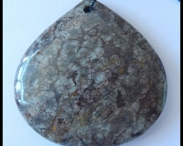 147Ct Natural Rhyolite GEMSTONE Pendant Bead(D0010)