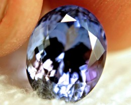 CERTIFIED - 7.89 Carat Vibrant African Tanzanite - Superb
