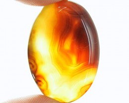 Genuine 44.60 Cts Yellow Onyx Oval Shaped Cab