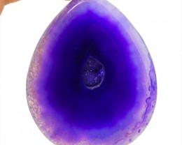Genuine 212.90 Cts Purple Druzy Pear Shaped Cab