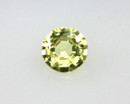 0.34cts Natural Australian Yellow Sapphire Round Cut