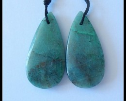 30Ct Natural Chrysocolla Earring Beads
