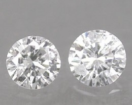 NATURAL WHITE DIAMOND--0.38CTWSIZE-2PCS,LOWDEAL,NR