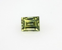 0.55cts Natural Australian Yellow/Blue Parti Sapphire Baguette Cut