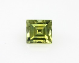 0.82cts Natural Australian Yellow Sapphire Square Cut