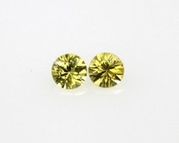 0.44cts  Matching Pair Natural Yellow Sapphires Beautiful Accent Stones