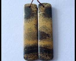 Sale 27.55Ct Natural Chohua Jasper Earring Beads ,Healing Stone B 87