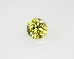 0.21cts Natural Australian Yellow Sapphire Round Cut