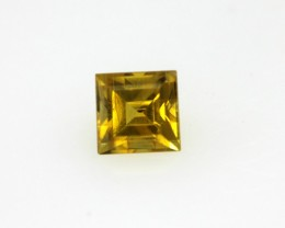 0.41cts Natural Australian Gold Sapphire Square Cut