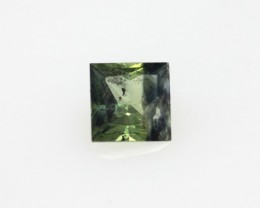 0.33cts Natural Australian Yellow/Blue Parti Sapphire Princess Cut
