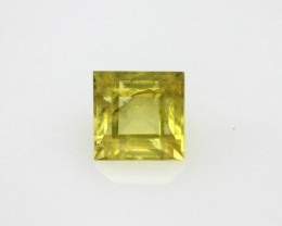 0.69cts Natural Australian Yellow Sapphire Square Cut