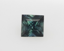 0.70cts Natural Australian Blue Sapphire Princess Cut