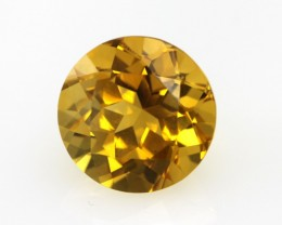 3.51cts Golden Yellow Citrine Round Shape