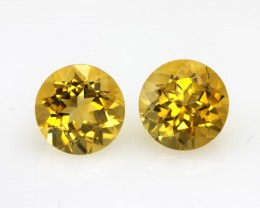 4.92cts Golden Yellow Citrine Matching  Rounds