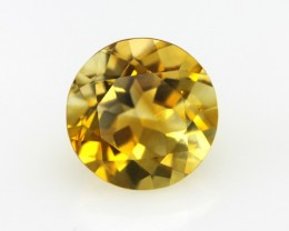 3.78cts Golden Yellow Citrine Round Shape