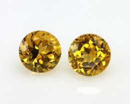 10.26cts Golden Yellow Citrine Matching Rounds
