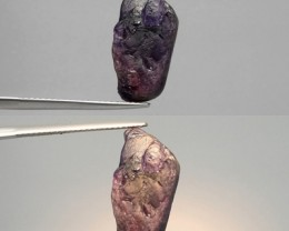 12.71CT COLOR CHANGE SAPPHIRE ROUGH - LOVELY FIND