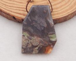 61Ct Natural Mushroom Jasper Pendant Bead P0035