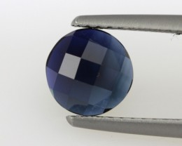 1.49cts Natural Australian Blue Sapphire Round Checker Board