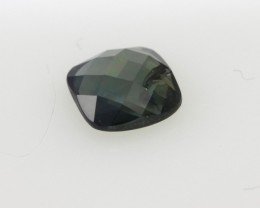 1.30cts Natural Australian Blue/Green Sapphire Cushion Checker Board